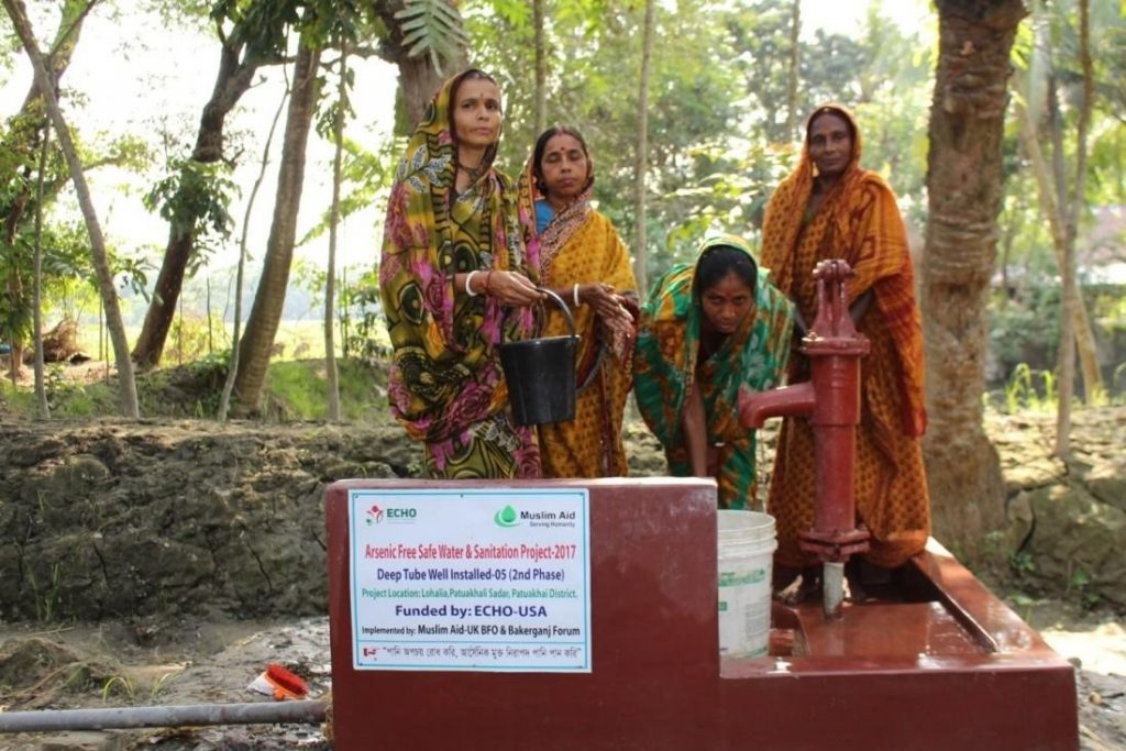 Water Supply for pure drinking water, Hygiene & Sanitation, Arsenic mitigation.